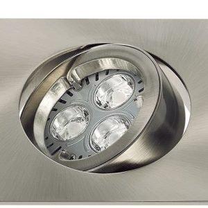 LED-alasvalo KIT LED PRO CARRÉ 1x4.5 W harjattu nikkeli