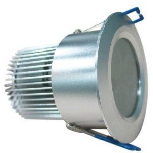 LED-alasvalo LED-023 9W 600lm IP54 Ø 80x55 mm hopea