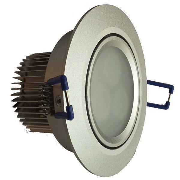 LED-alasvalo LED-033 9W 600lm Ø 90x55 mm suunnattava hopea