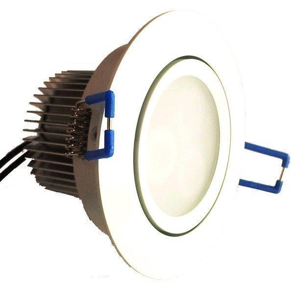 LED-alasvalo LED-033 9W 600lm Ø 90x55 mm suunnattava valkoinen