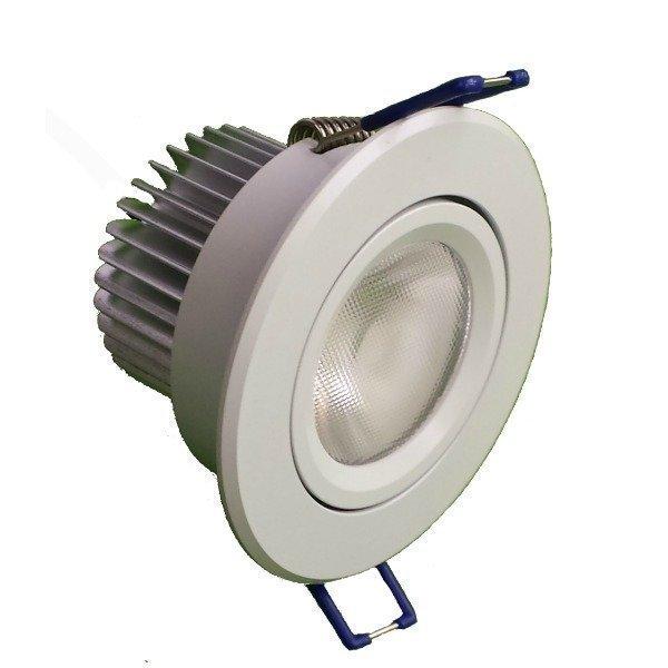 LED-alasvalo LED-BJ33 8W 3000K 580lm Ø 85x55 mm suunnattava valkoinen