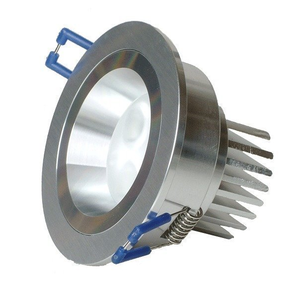 LED-alasvalo LED-R023 9W 600lm IP54 Ø 90x50 mm harjattu alumiini