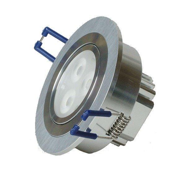 LED-alasvalo LED-R033 9W 600lm Ø 90x45 mm suunnattava harjattu alumiini