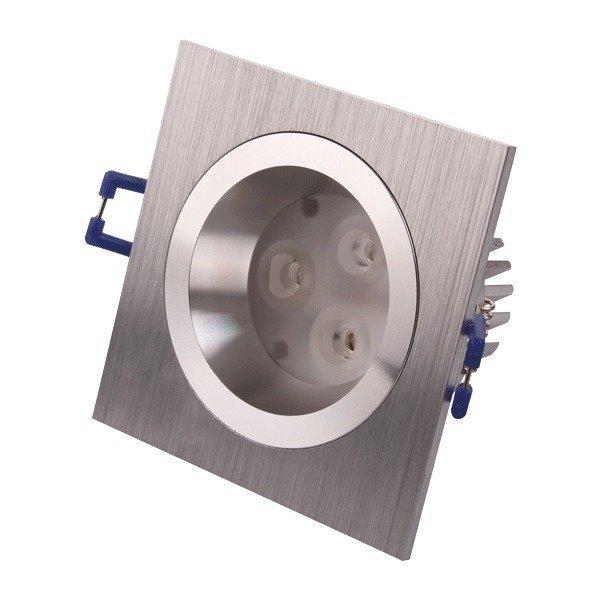 LED-alasvalo LED-SQ023 9W 600lm IP54 95x95x55 mm harjattu alumiini