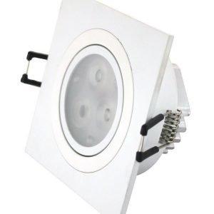 LED-alasvalo LED-SQ033 9W 600lm 95x95x45 mm suunnattava valkoinen
