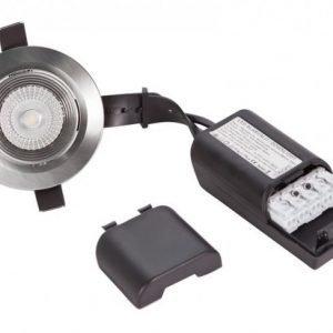 LED alasvalo LUMISPOT IP44/IP23 10W 3000K matta kromi himmennettävä
