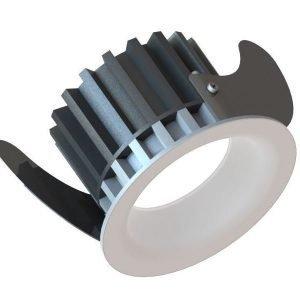 LED-alasvalo Linea 75 HV 9W 400lm 3000K IP44 Ø 90 mm valkoinen