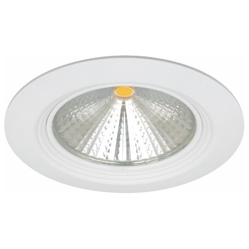 LED-alasvalo MD-152 IP44 65° 12W 230V Ø 120x80 mm 3000K 831lm valkoinen
