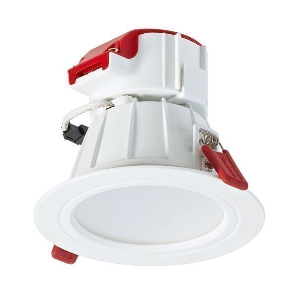 LED-alasvalo Orbito LED 5W WW 348lm 3000K IP44 40° Ø 95x85 mm valkoinen
