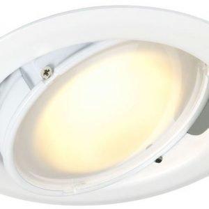 LED-alasvalo Slim 10W 3000K DIM 530 lm IP44 Ø 110x71 mm valkoinen suunnattava