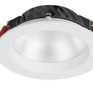 LED-alasvalo Syl-Lighter 110 LED Round 12W 3000K 800lm IP44 Ø 110x35 mm himmennettävä valkoinen