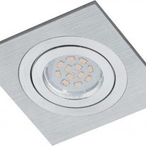 LED-alasvalo Terni 1 95x95x4 mm harjattu alumiini