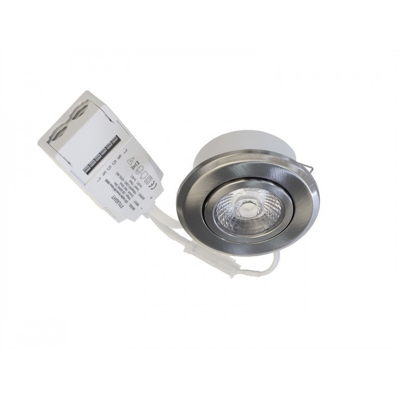 LED alasvalo Timburg kromi 6W 450lm 3000K IP44/IP23