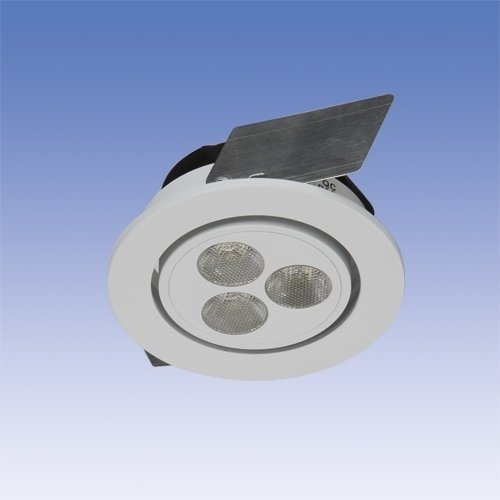 LED-alasvalo Velox ALS3X1 IP20 3X1W LED 4K 20° VA Ø 80x45 mm suunnattava valkoinen