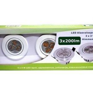 LED alasvalosarja BASIC 3 x 3W valkoinen