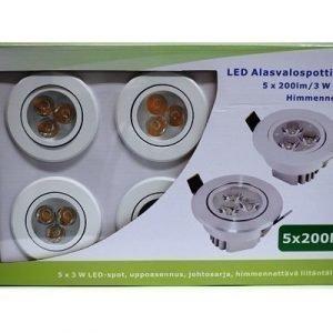 LED alasvalosarja BASIC 5 x 3W valkoinen
