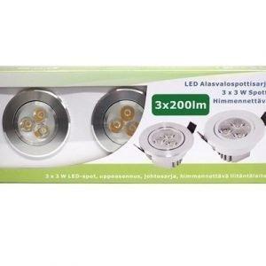 LED alasvalosarja BASIC3 x 3W silver