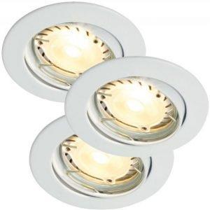 LED-alasvalosarja Recess 3-Kit LED Hi-Power Ø 80x100 mm 3 kpl valkoinen