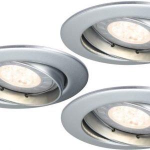 LED-alasvalosetti Premium Line 3x3.5W Ø 83 mm 3 kpl mattakromi