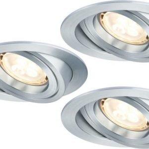 LED-alasvalosetti Premium Line 3x4 W Ø 90 mm 3 kpl harjattu alumiini suunnattava