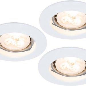 LED-alasvalosetti Premium Line 3x4W Ø 79 mm 3 kpl valkoinen