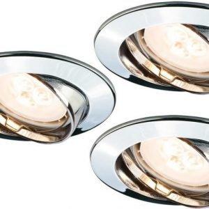 LED-alasvalosetti Premium Line 3x4W Ø 83 mm 3 kpl kromi käännettävä