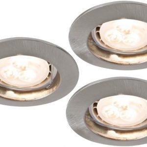 LED-alasvalosetti Premium Line 3x4W 3000K Ø 79 mm 3 kpl harjattu teräs