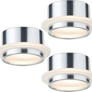 LED-alasvalosetti Star line 3x1W Ø 46 mm 3 kpl alumiini/satiini