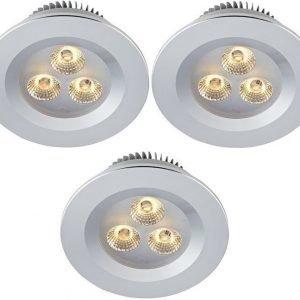 LED-alasvalosetti Zeus 3x1W 3000K IP44 3-osainen alumiini