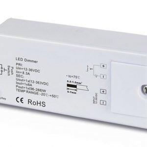 LED himmennin/vastaanotin RF 1-kanavainen 12-36VDC