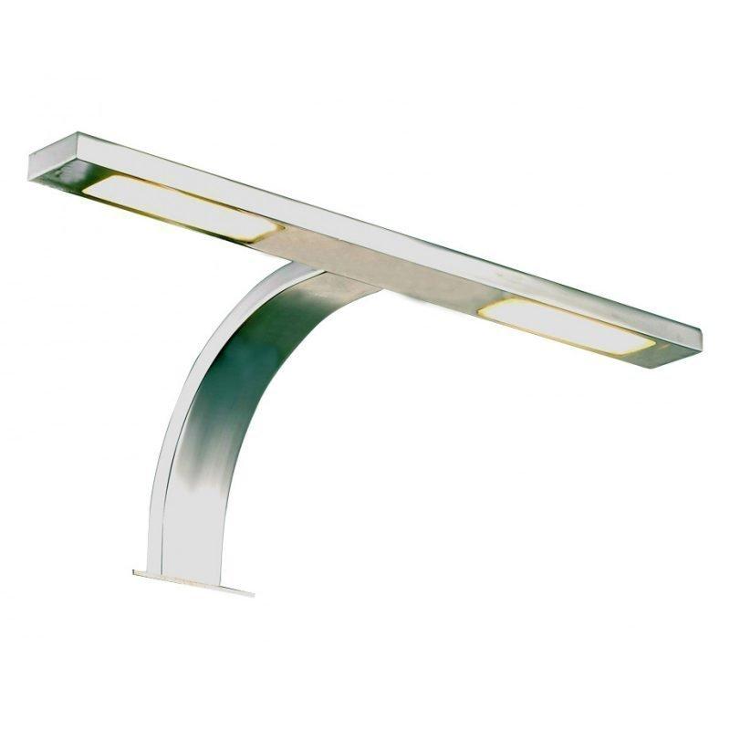 LED-kaappivalaisin Bari IP44 300x120x120 mm 2-osainen kromi