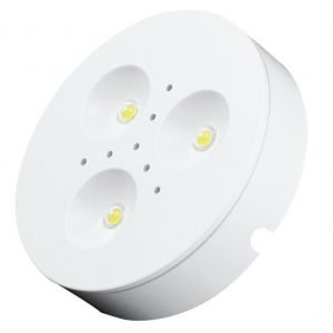 LED-kalustevalaisin Fino 3x1W 24V 4000K 200 lm Ø 70x16