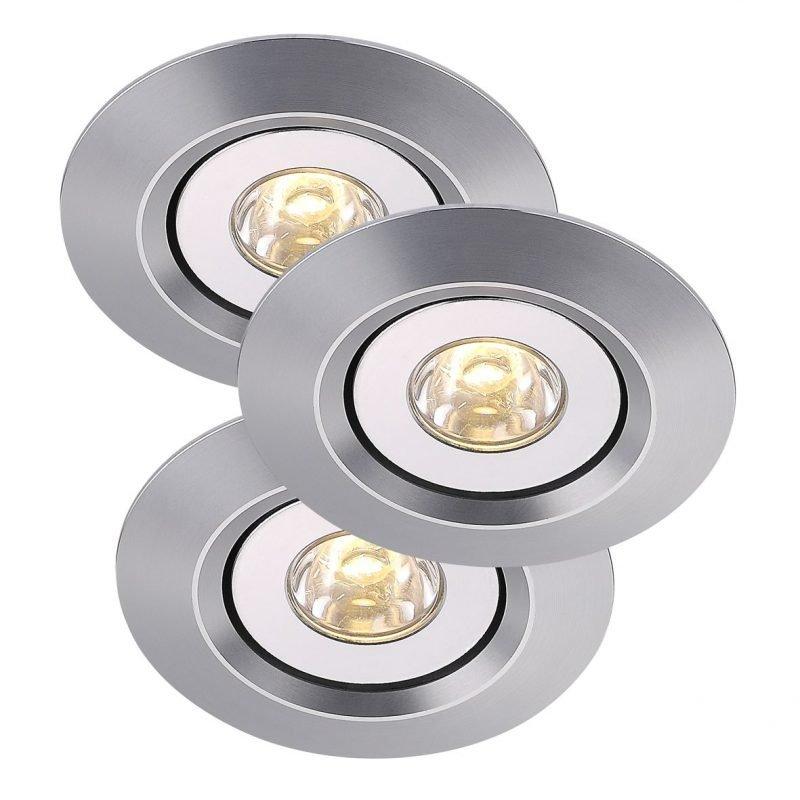 LED-kalustevalaisinsarja Raven Mini 3-Kit Ø 60x26 mm 3 kpl alumiini
