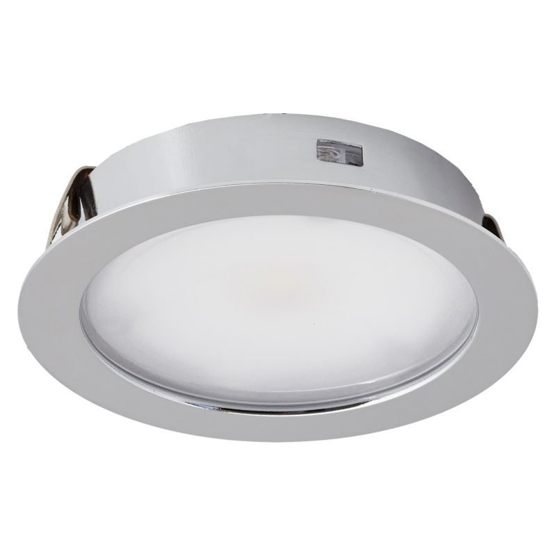 LED-kalustevalaisinsetti Limente Led-50 2x4 W 4000 K Ø 67x16 mm kromi