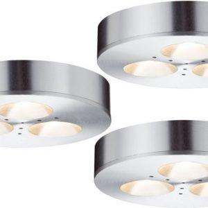 LED-kalustevalaisinsetti Micro Line Plane 3x3W Ø 70 mm 3 kpl alumiini