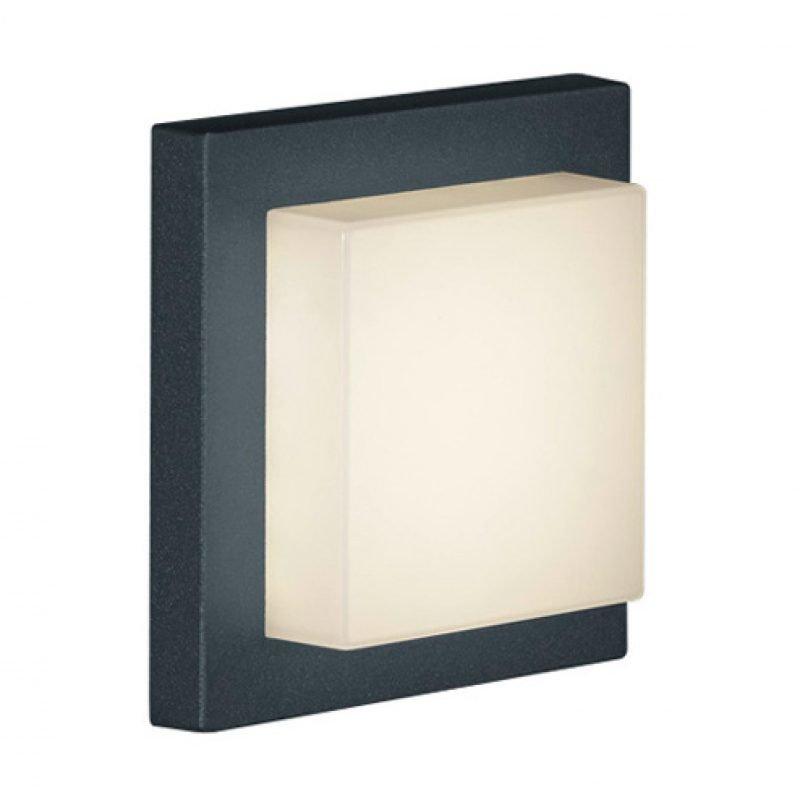 LED-katto-/seinävalaisin Hondo 140x140x65 mm antrasiitti