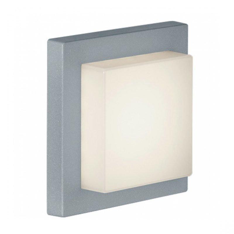 LED-katto-/seinävalaisin Hondo 140x140x65 mm titaani