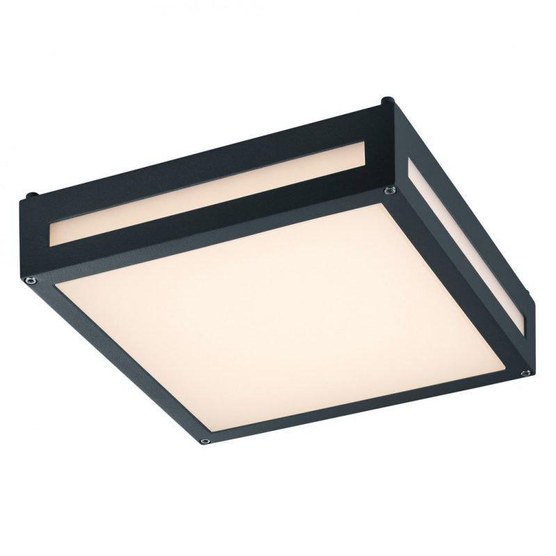 LED-katto-/seinävalaisin Newa 300x300x90 mm antrasiitti