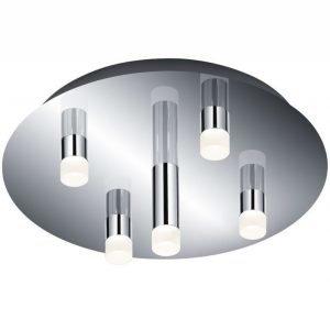 LED-kattoplafondi Zidane Ø 350x135 mm 5-osainen kromi