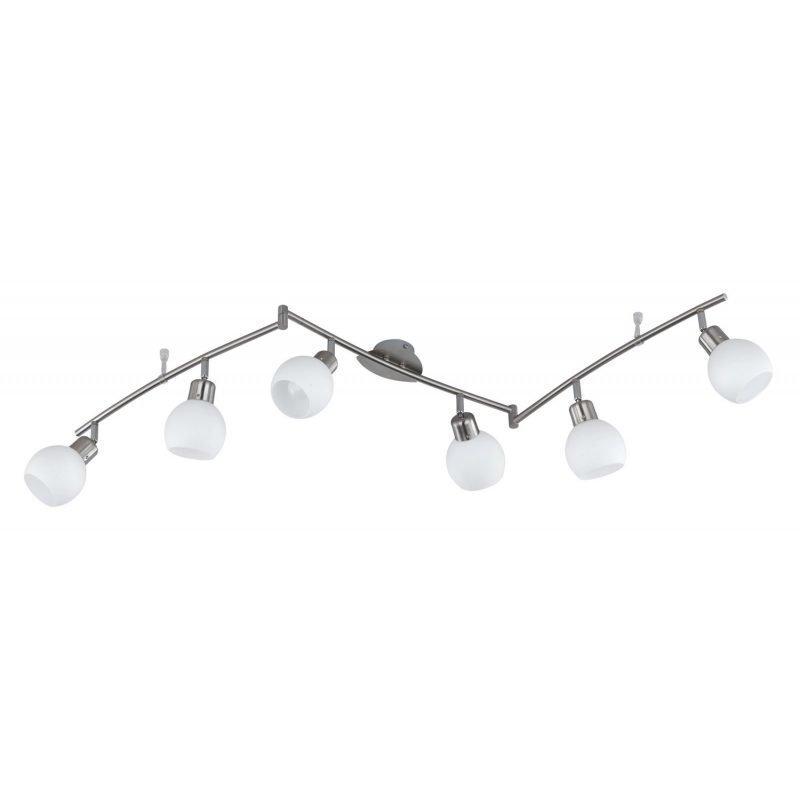 LED-kattospotti Adele 1500x100x230 mm 6-osainen harjattu teräs/opaalilasi