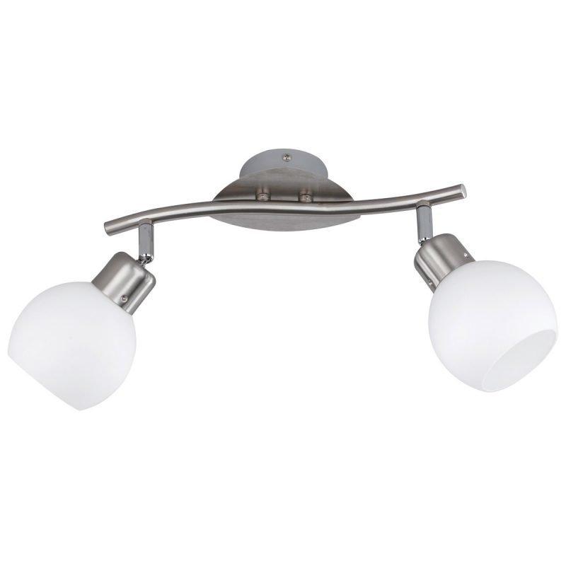 LED-kattospotti Adele 300x100x205 mm 2-osainen harjattu teräs/opaalilasi