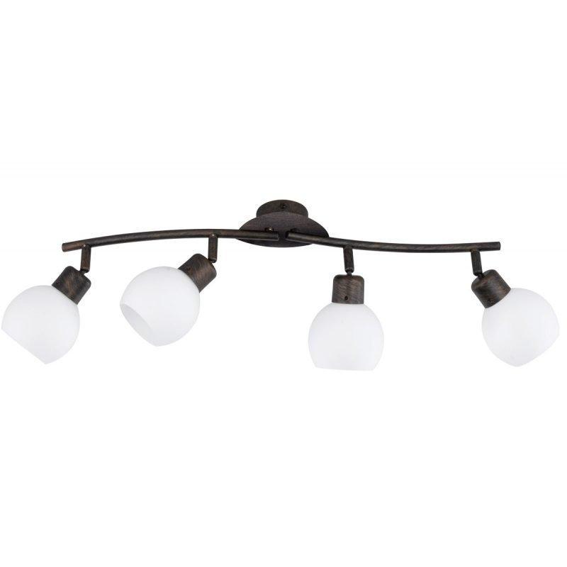 LED-kattospotti Adele 600x100x205 mm 4-osainen antiikkiruskea/opaalilasi