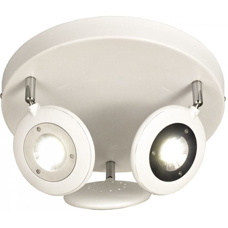 LED-kattospotti Aneta Moto Ø 330x200 mm valkoinen