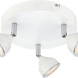 LED-kattospotti Bell Ø 205x105 mm 3-osainen valkoinen