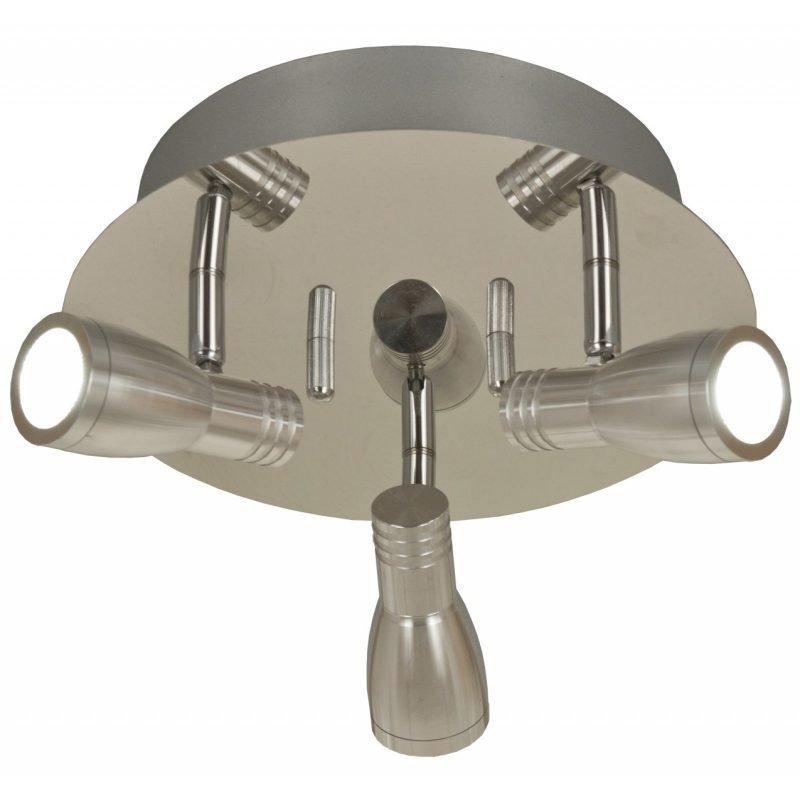 LED-kattospotti Columbus Ø 250x170 mm 3-osainen kromi/alumiini