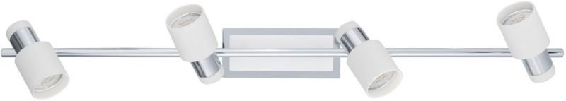 LED-kattospotti Davida 780x70 mm 4-osainen valkoinen/kromi