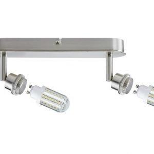 LED-kattospotti DecoSystems 2-osainen harjattu teräs