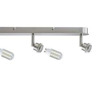 LED-kattospotti DecoSystems 3-osainen harjattu teräs