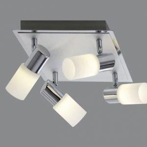 LED-kattospotti Emilia 230x230x185 mm 4-osainen harjattu alumiini