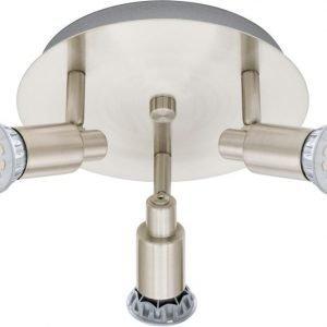 LED-kattospotti Eridan Ø 210 mm 3-osainen harjattu teräs
